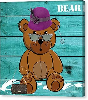 Baby Bear Collection Canvas Print by Marvin Blaine