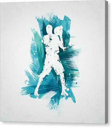 Basketball Player Canvas Print by Aged Pixel