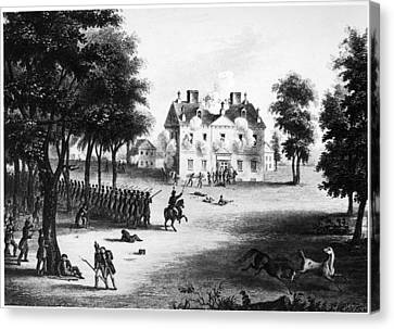 Battle Of Germantown, 1777 Canvas Print by Granger
