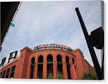 Busch Stadium - St. Louis Cardinals Canvas Print by Frank Romeo