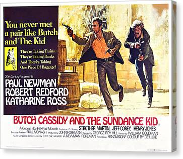 Butch Cassidy And The Sundance Kid Canvas Print by Everett
