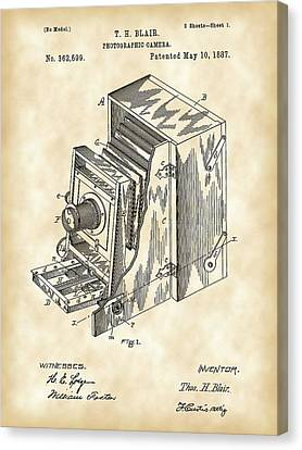 Camera Patent 1887 - Vintage Canvas Print by Stephen Younts