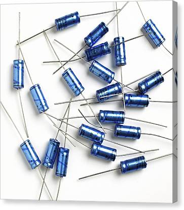 Capacitors Canvas Print by Science Photo Library