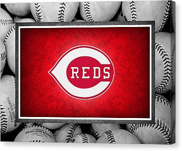 Cincinnati Reds Canvas Print by Joe Hamilton