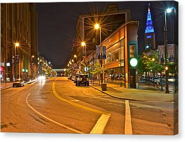 Cleveland Ohio Canvas Print by Frozen in Time Fine Art Photography