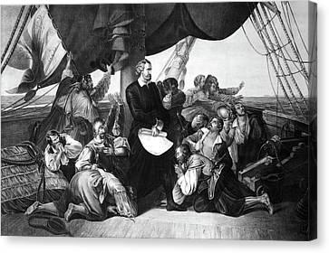 Columbus New World, 1492 Canvas Print by Granger