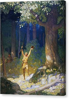 Cooper: Deerslayer, 1925 Canvas Print by Granger