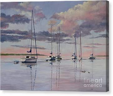 Cuttyhunk Harbor Canvas Print by Karol Wyckoff