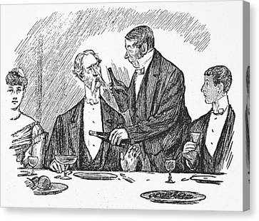 Dining, 19th Century Canvas Print by Granger