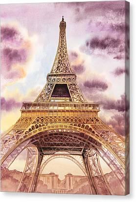 Eiffel Tower Paris France Canvas Print by Irina Sztukowski