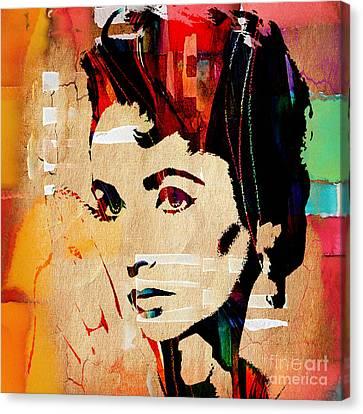 Elizabeth Taylor Collection Canvas Print by Marvin Blaine