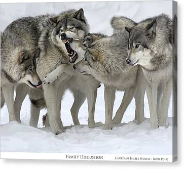 Family Discussion Canvas Print by Rudy Pohl