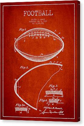 Football Patent Drawing From 1939 Canvas Print by Aged Pixel
