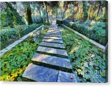 Footpath Canvas Print by George Atsametakis