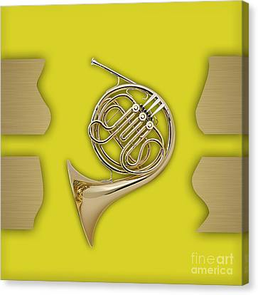 French Horn Collection Canvas Print by Marvin Blaine