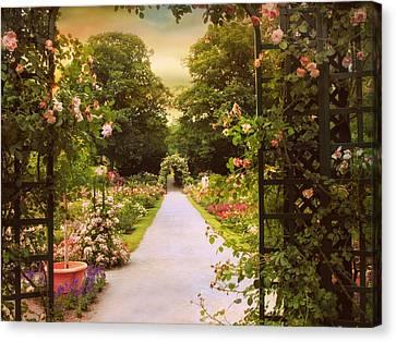 Garden Gate Canvas Print by Jessica Jenney