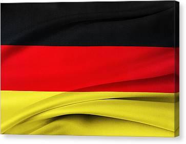 German Flag Canvas Print by Les Cunliffe