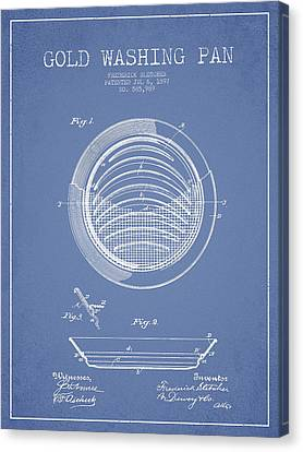 Gold Washing Pan Patent Drawing From 1897 Canvas Print by Aged Pixel