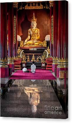 Golden Buddha Canvas Print by Adrian Evans