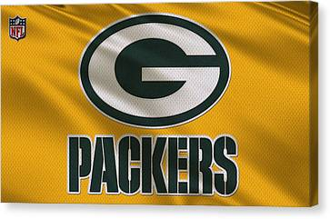 Green Bay Packers Uniform Canvas Print by Joe Hamilton