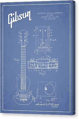 Hart Gibson Electrical Musical Instrument Patent Drawing From 19 Canvas Print by Aged Pixel