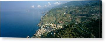 High Angle View Of A Village Canvas Print by Panoramic Images