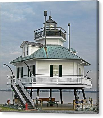 Hooper Straight Lighthouse Canvas Print by Skip Willits