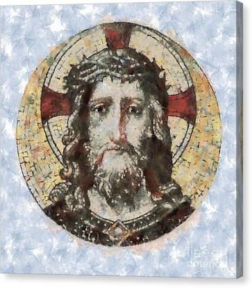 Jesus Christ Canvas Print by Michal Boubin