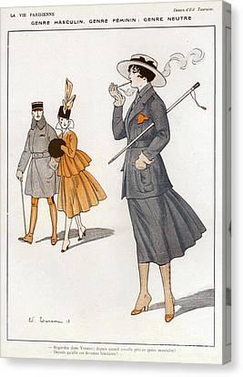 La Vie Parisienne  1916 1910s France Cc Canvas Print by The Advertising Archives