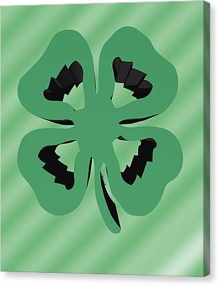 4 Leaf Clover  Canvas Print by Kate Farrant