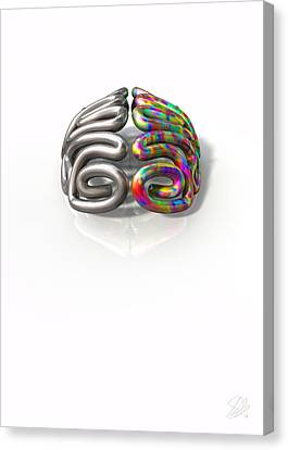 Left And Right Brain Concept Canvas Print by Allan Swart