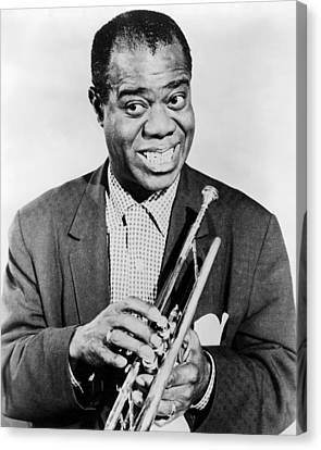 Louis Armstrong (1900-1971) Canvas Print by Granger