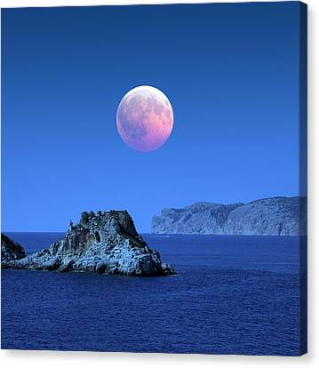 Lunar Eclipse Canvas Print by Detlev Van Ravenswaay