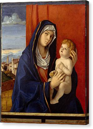 Madonna And Child Canvas Print by Giovanni Bellini