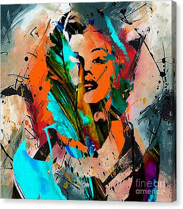 Marilyn Monroe Painting Canvas Print by Marvin Blaine