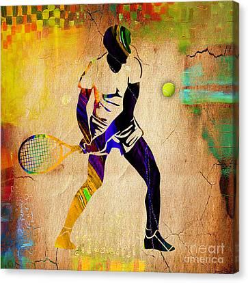 Mens Tennis Canvas Print by Marvin Blaine