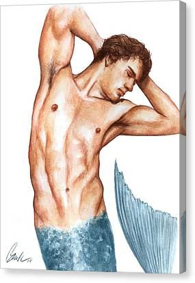 Merman Canvas Print by Bruce Lennon