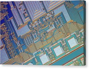 Microchip Canvas Print by Alfred Pasieka