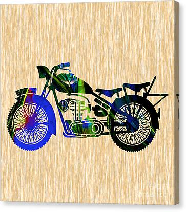 Motorcycle Canvas Print by Marvin Blaine