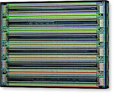 Nanoprecision Inkjet Print Head Canvas Print by Alfred Pasieka