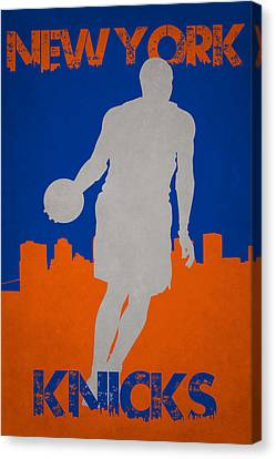 New York Knicks Canvas Print by Joe Hamilton