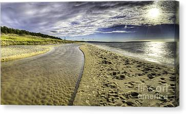Otter Creek And Lake Michigan Canvas Print by Twenty Two North Photography
