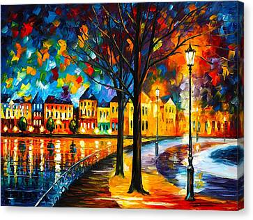 Park By The River Canvas Print by Leonid Afremov