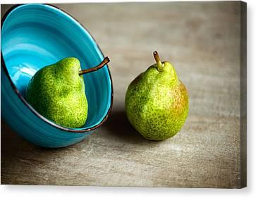 Pears Canvas Print by Nailia Schwarz