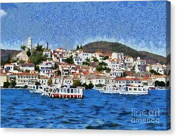 Poros Island Canvas Print by George Atsametakis