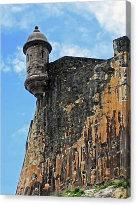 Puerto Rico, San Juan, Fort San Felipe Canvas Print by Miva Stock