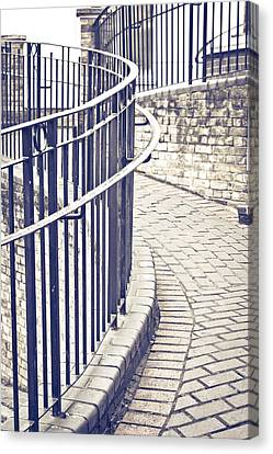Railings Canvas Print by Tom Gowanlock