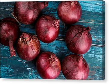 Red Onions Canvas Print by Nailia Schwarz