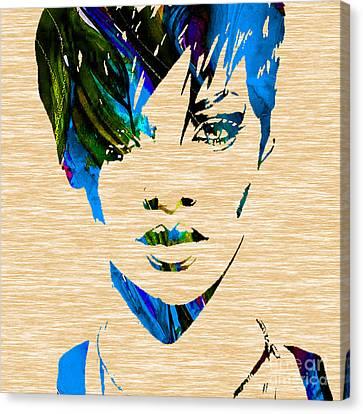Rihanna Collection Canvas Print by Marvin Blaine