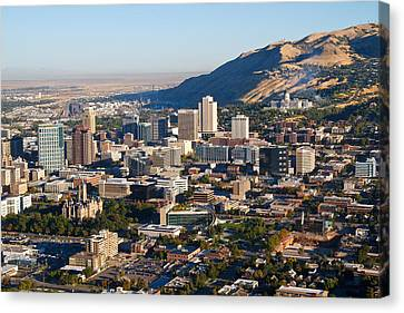 Salt Lake City Utah Canvas Print by Utah Images